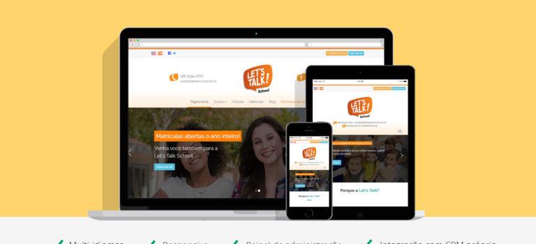 Novo site no ar – Let's Talk School